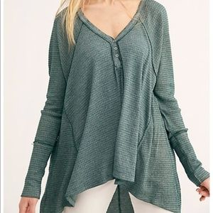 We the Free Thermal Henley Tee Top NWT